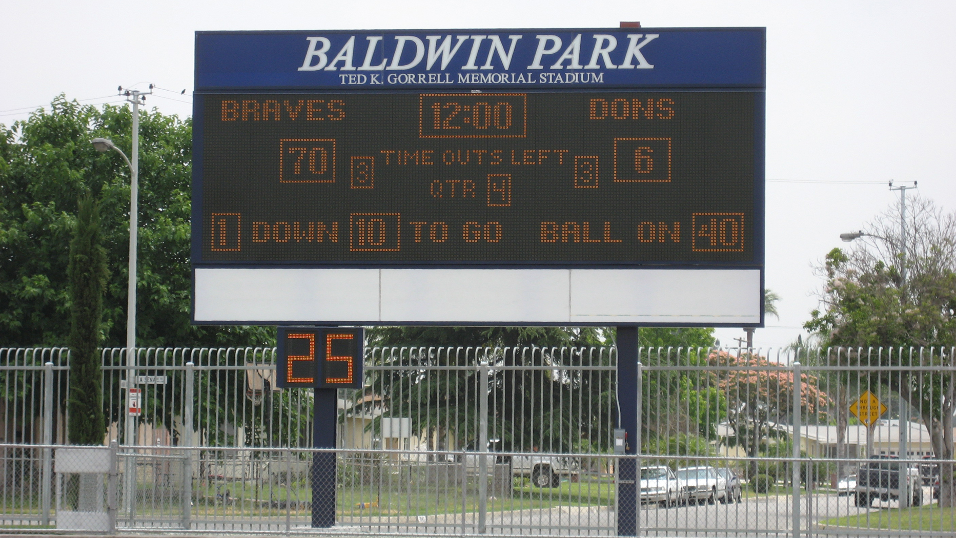 Baldwin Park HS Matrix Board
