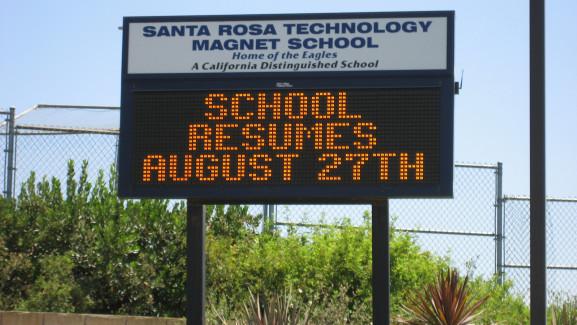 Santa Rosa School Marquee