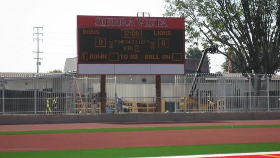 Sierra Vista HS Matrix Scoreboard