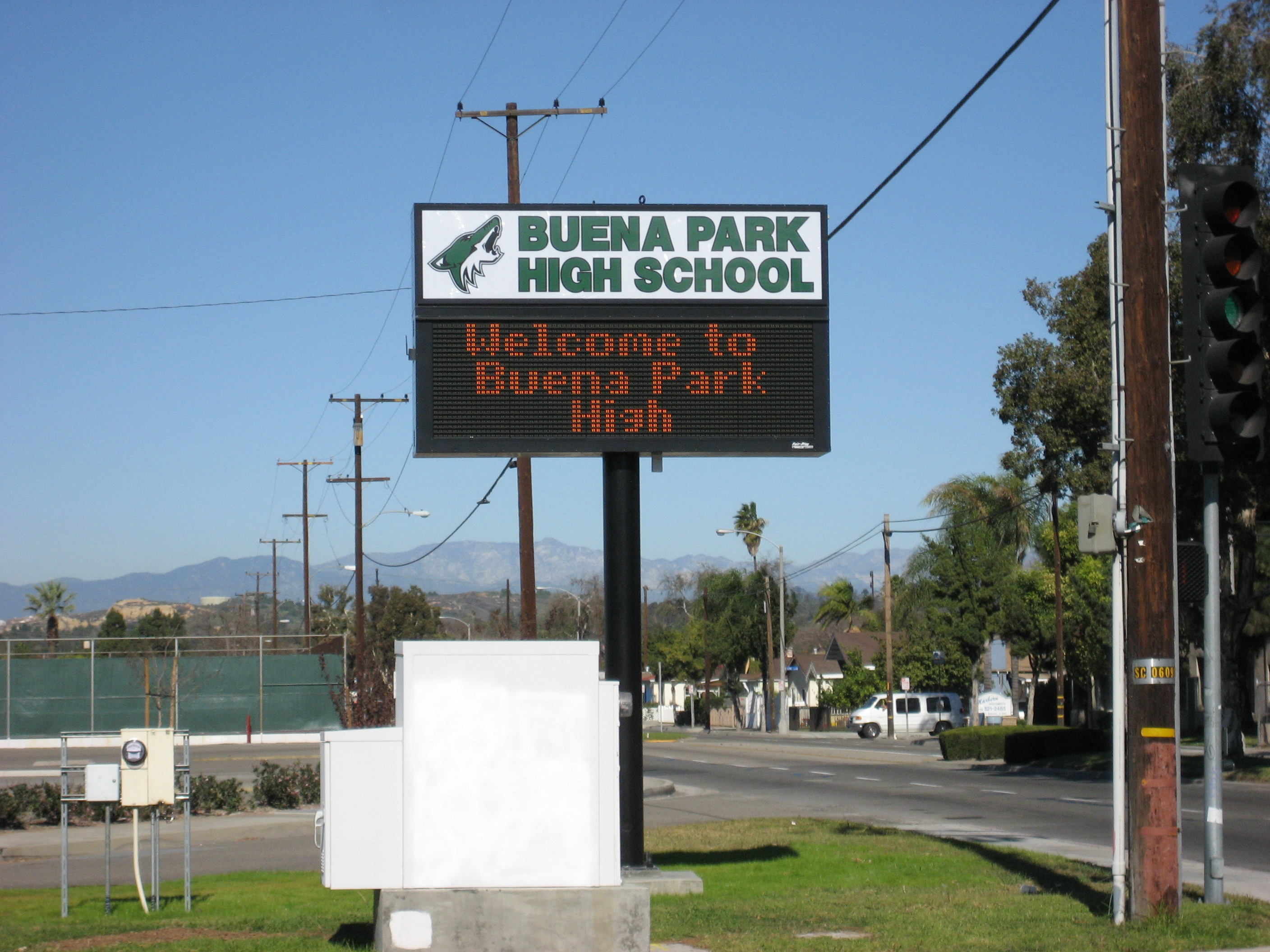 Buena Park HS Marquee 1